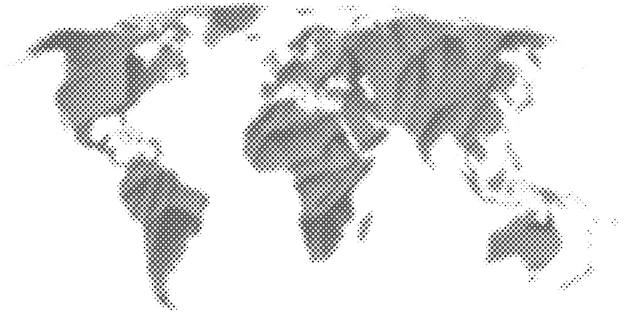 Abstract halftone world map. Premium Vector
