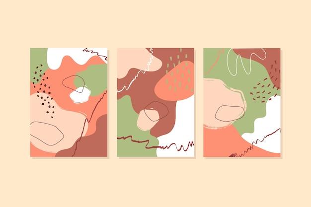 Абстрактные рисованной формы охватывает пакет Бесплатные векторы