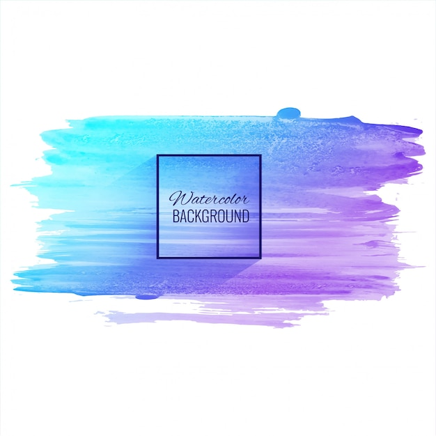 Abstract hand drawn watercolor colorful stroke background Premium Vector