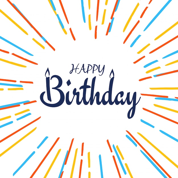 Abstract happy birthday colorful background Free Vector