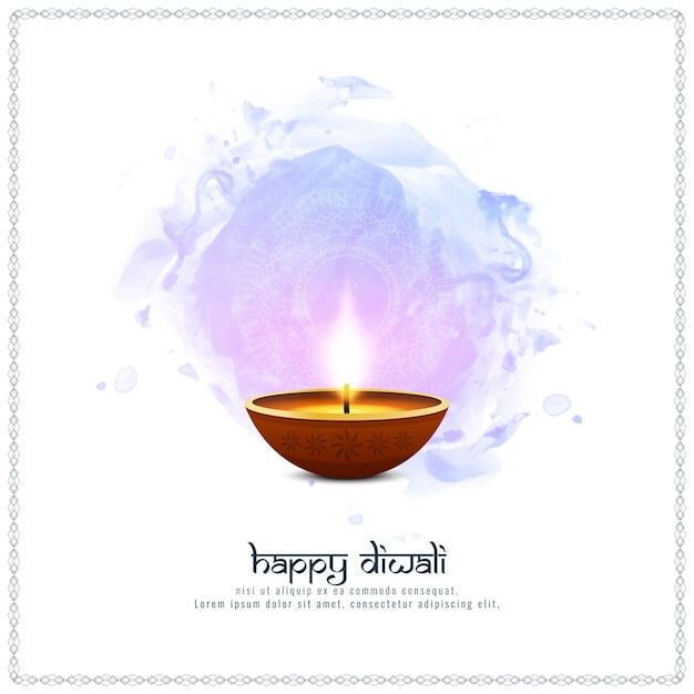 Abstract happy diwali artistic background Free Vector