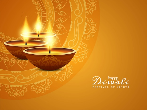 Abstract Happy Diwali Beautiful Background Vector Free
