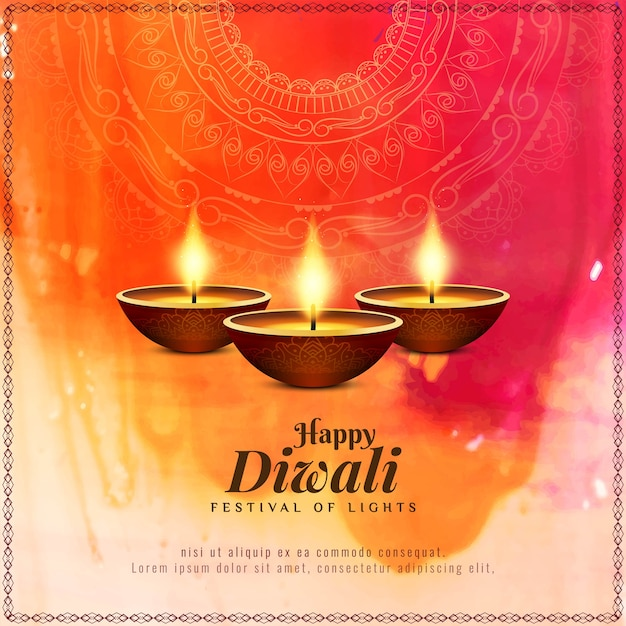 Abstract happy diwali beautiful religious background Free Vector