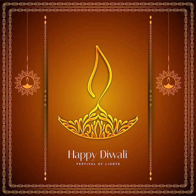 Abstract happy diwali festival greeting background Free Vector