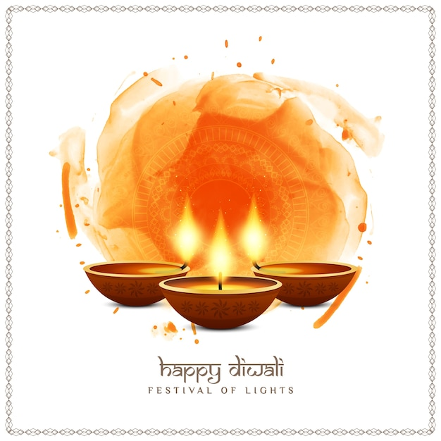 Abstract happy diwali indian festival background design Free Vector