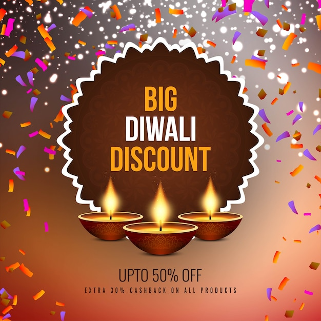 Abstract happy diwali sale offer background Premium Vector