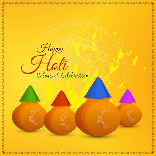 Abstract happy holi festival greeting vector background Free Vector