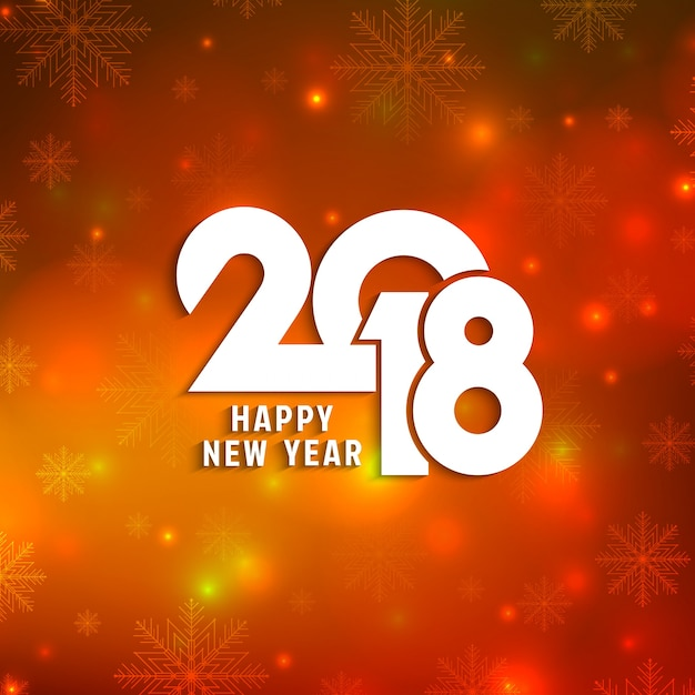 abstract happy new year 2018 background free vector