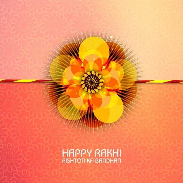 Abstract for happy raksha bandhan Free Vector