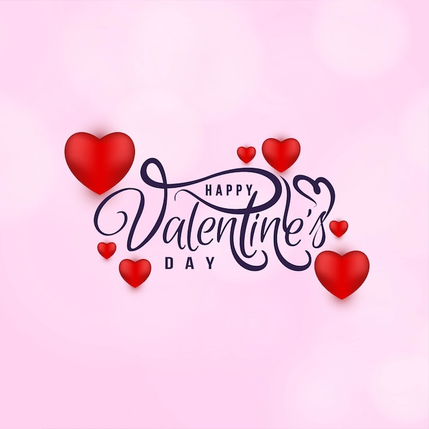 Abstract happy valentine's day love background Free Vector