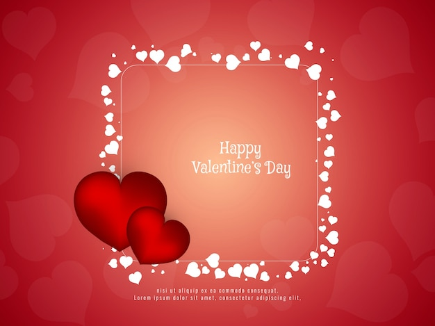 Abstract Happy Valentineu0027s Day Stylish Background Free Vector