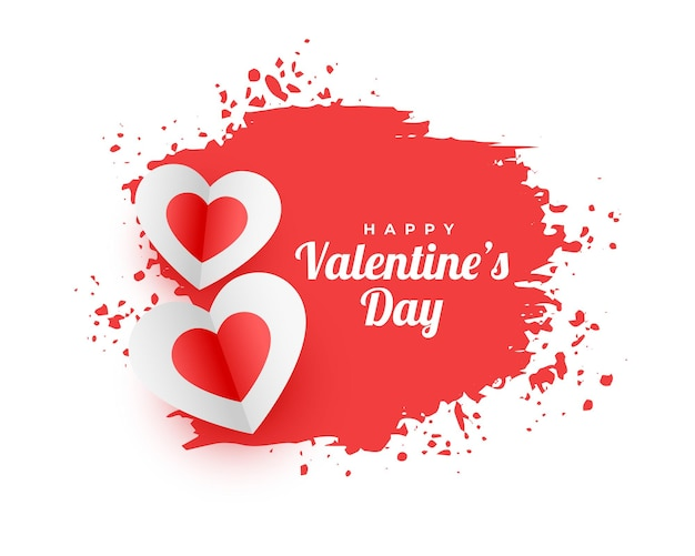 Abstract happy valentines day watercolor background Free Vector