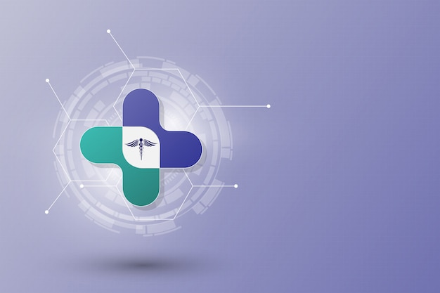 Abstract health care innovation concept template background Premium Vector