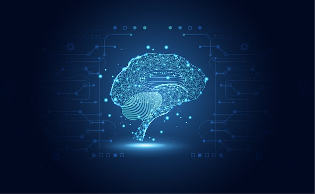 Abstract health medical science consist brain digital Premium Vector