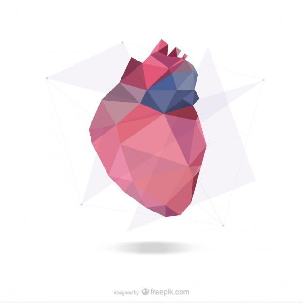 abstract heart design vector free download