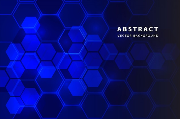 Abstract hexagon background Free Vector
