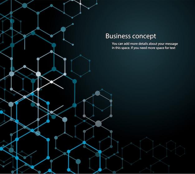 Abstract hexagon background Premium Vector