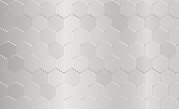 Abstract hexagon pattern gray background. Premium Vector