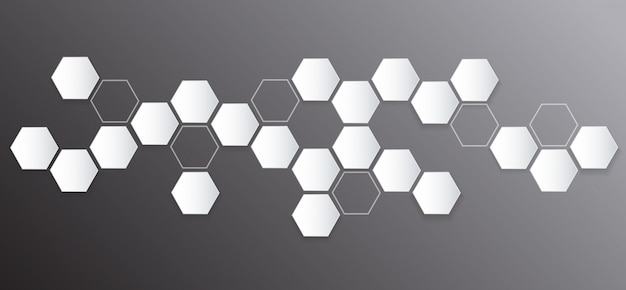 Abstract hexagon and space background Premium Vector