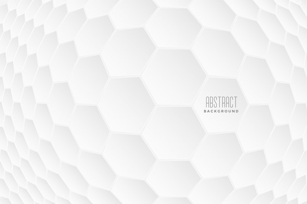 Abstract hexagonal 3d shapes white background Free Vector