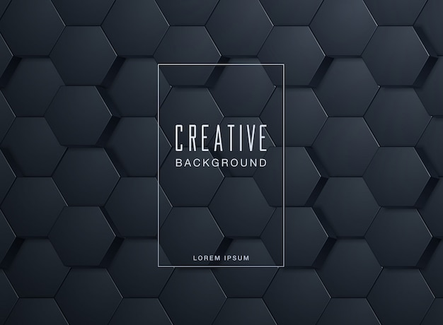 Abstract hexagonal background Premium Vector