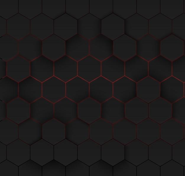 Abstract hexagonal background. Premium Vector