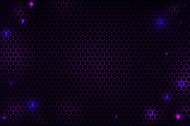Abstract hexagonal cyber net background Free Vector
