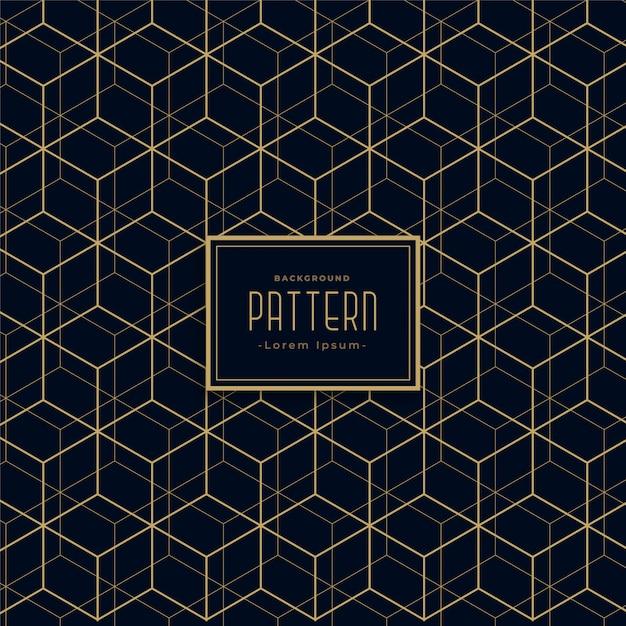 Abstract hexagonal line dark pattern background Vector ... - photo #18