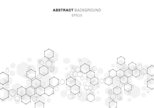 Abstract hexagonal molecule structure of neurons system Premium Vector