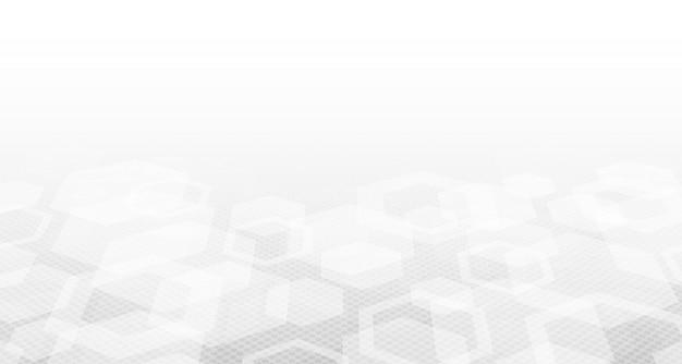 Абстрактное шестиугольное дизайна медицинской технологии белого с предпосылкой полутонового изображения. Premium векторы