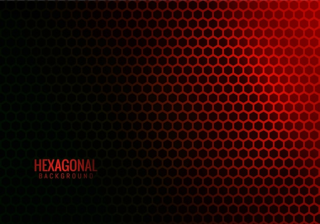 Abstract hexagonal technology red Free Vector