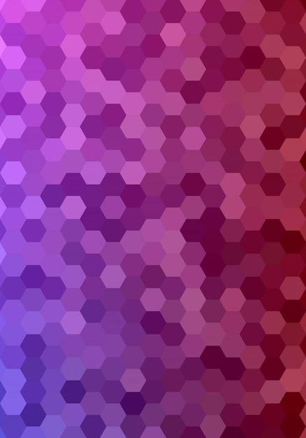 Abstract hexagonal tile mosaic background design Free Vector