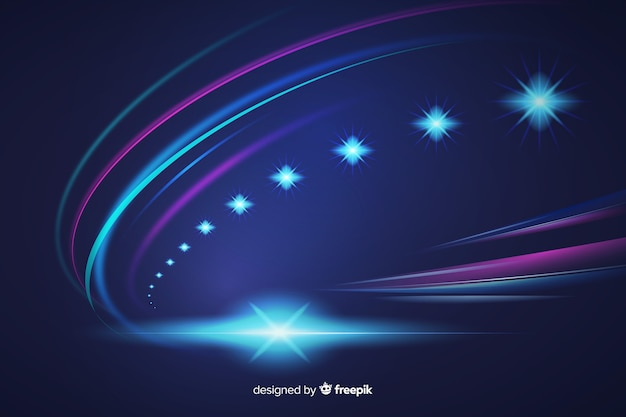 Abstract high speed lights trail background Free Vector