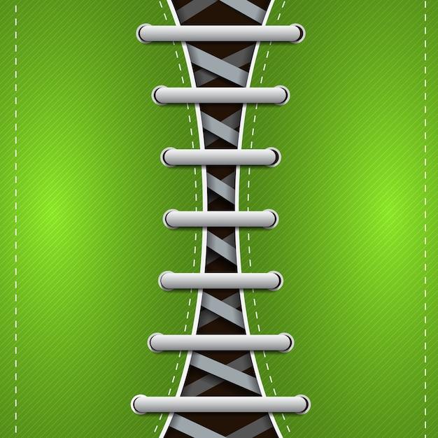 Il concetto astratto dei gumshoes dei pantaloni a vita bassa con i lacci grigi sulle linee oblique verdi vector l'illustrazione Vettore gratuito