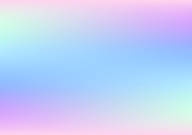 Abstract holographic background with pastel colors Premium Vector