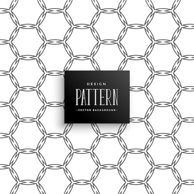 Abstract honeycomb pattern line art Free Vector