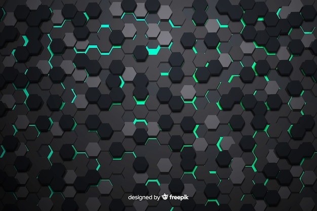 Abstract honeycomb texture Free Vector