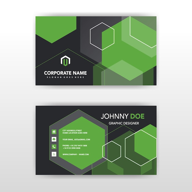 Abstract horizontal business card vector free download abstract horizontal business card free vector colourmoves