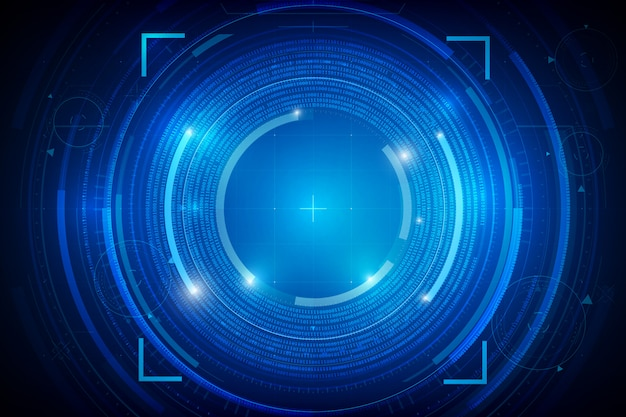 Abstract hud technology background Premium Vector