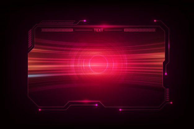 Abstract hud ui gui future futuristic screen system virtual design Premium Vector
