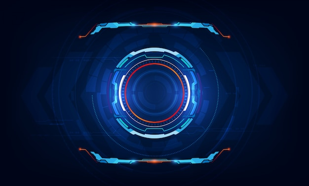 Abstract hud ui virtual sci fi interface background Premium Vector
