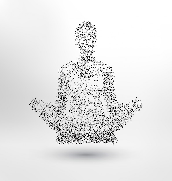 Abstract human meditating Free Vector