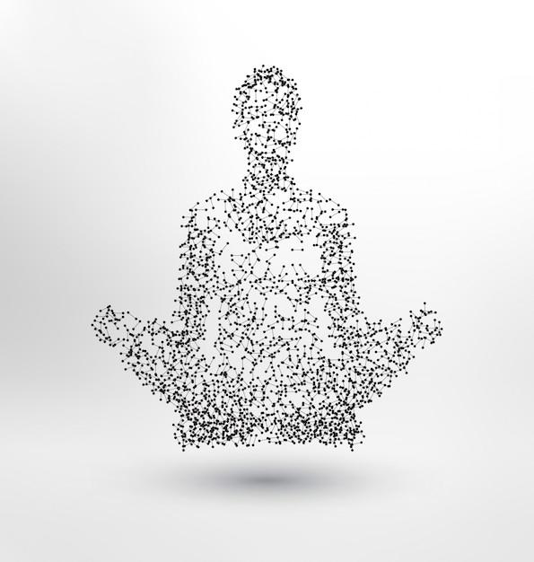 Абстрактный человек медитирует Бесплатные векторы