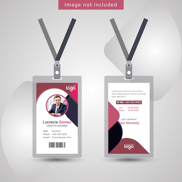 Abstract Id Card Design Template Vector | Premium Download