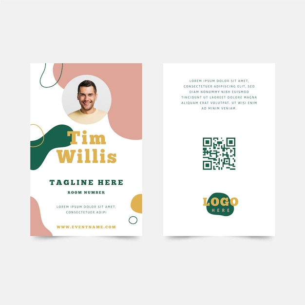 Abstract id card design Premium Vector