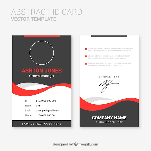 Abstract id card template with flat design Vector | Free ...