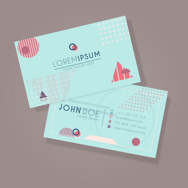 Abstract id card Premium Vector