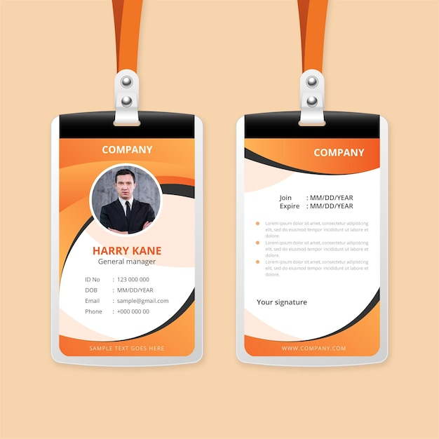 Abstract id cards style Free Vector