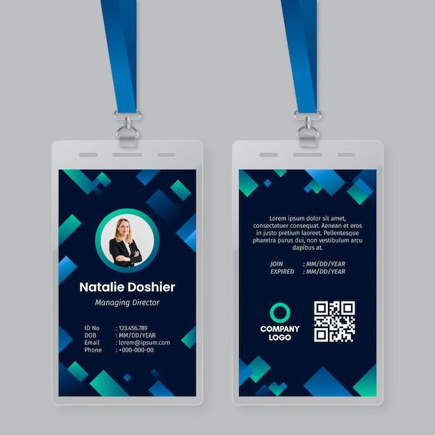 Concetto di modello astratto carte d'identità Vettore gratuito