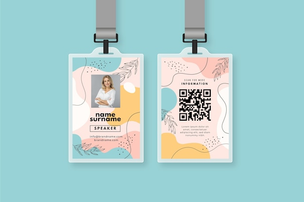 Abstract id cards template concept Free Vector
